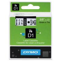 1 x Dymo D1 Label Tape 9mm Black on White 40913