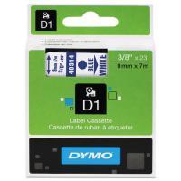 1 x Dymo D1 Label Tape 9mm Blue on White 40914