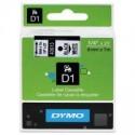 1 x Dymo D1 Label Tape 6mm Black on White 43613