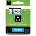 1 x Dymo D1 Label Tape 12mm Blue on White 45014