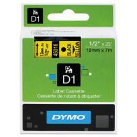 1 x Dymo D1 Label Tape 12mm Black on Yellow 45018