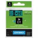 1 x Dymo D1 Label Tape 12mm Black on Green 45019