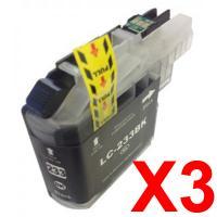 3 x Brother LC-233 Black Ink Cartridge LC-233BK