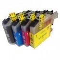 4 Pack Brother LC-233 Ink Cartridge Set (1BK,1C,1M.1Y)