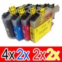 10 Pack Brother LC-233 Ink Cartridge Set (4BK,2C,2M,2Y)