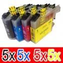 20 Pack Brother LC-233 Ink Cartridge Set (5BK,5C,5M,5Y)