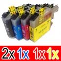 5 Pack Brother LC-233 Ink Cartridge Set (2BK,1C,1M,1Y)