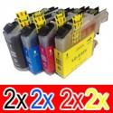 8 Pack Brother LC-233 Ink Cartridge Set (2BK,2C,2M,2Y)