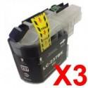 3 x Brother LC-237XL Black Ink Cartridge LC-237XLBK