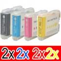 8 Pack Brother LC-37 Ink Cartridge Set (2BK,2C,2M,2Y)