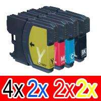 10 Pack Brother LC-38 Ink Cartridge Set (4BK,2C,2M,2Y)