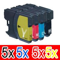 20 Pack Brother LC-38 Ink Cartridge Set (5BK,5C,5M,5Y)