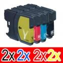 8 Pack Brother LC-38 Ink Cartridge Set (2BK,2C,2M,2Y)