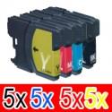 20 Pack Brother LC-67 Ink Cartridge Set (5BK,5C,5M,5Y)