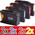 8 Pack Brother LC-73 Ink Cartridge Set (2BK,2C,2M,2Y)