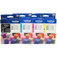 4 Pack Brother LC-133 Ink Cartridge Set (1BK,1C,1M,1Y)