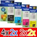 10 Pack Brother LC-231 Ink Cartridge Set (4BK,2C,2M,2Y)