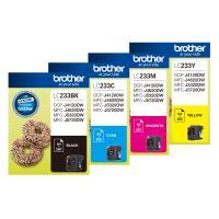 4 Pack Brother LC-233 Ink Cartridge Set (1BK,1C,1M,1Y)