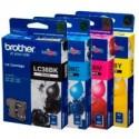 4 Pack Brother LC-38 Ink Cartridge Set (1BK,1C,1M,1Y)