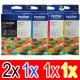 5 Pack Brother LC-40 Ink Cartridge Set (2BK,1C,1M,1Y)