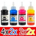 10 Pack Canon GI-690 GI690 Ink Bottle Set (4BK,2C,2M,2Y)