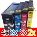 10 Pack Canon PGI-2600XL PGI2600XL Ink Cartridge High Yield Set (4BK,2C,2M,2Y)
