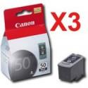 3 x Canon PG-50 Black Ink Cartridge