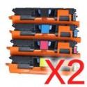 2 Lots of 4 pack Canon CART-301 Toner Cartridge Set