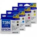 4 Pack Epson 73N T1051 T1052 T1053 T1054 Ink Cartridge Set (1BK,1C,1M,1Y)