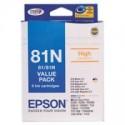1 x Epson 81N T1111 T1112 T1113 T1114 T1115 T1116 Ink Cartridge Value Pack High Yield