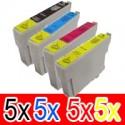 20 Pack Epson 73N T1051 T1052 T1053 T1054 Ink Cartridge Set (5BK,5C,5M,5Y)