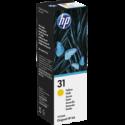 1 x HP 31 Yellow Ink Bottle 1VU28AA