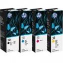 4 Pack HP 30 31 Ink Bottle Set (1BK,1C,1M,1Y)